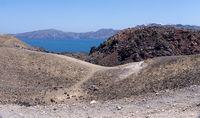 Blick von der Vulkaninsel Nèa Kamèni auf die Caldera