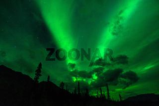 Wrangell Mountains Northern Lights Aurora Borealis Alaska Night Sky