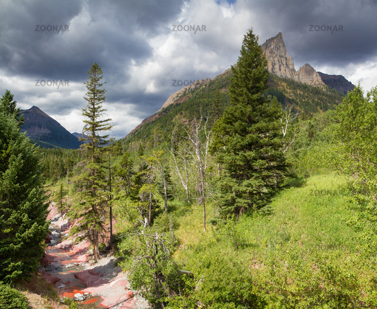 Mount Blakiston at Waterton National Park