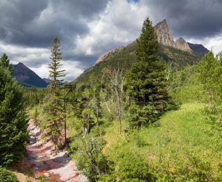Mount Blakiston at Waterton National Park