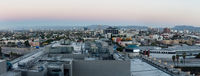 Sunrise panorama skyline in Los Angeles