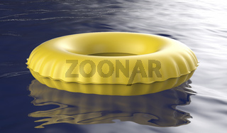 Yellow swim ring
