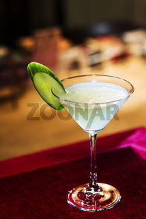 grapefruit and cucumber martini cocktail drink in bar