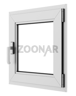 gray metallic window isolated on white background