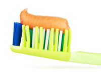 Green Toothbrush With Herbal Toothpaste