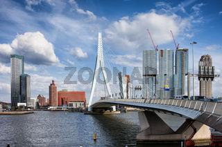 City of Rotterdam Skyline in Netherlands