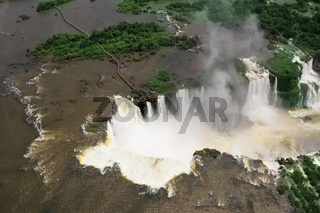 Iguazu, the famous and abundant waterfalls in the world