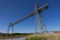 Transporter bridge crossing the Charente, Rochefort and Echillais, Charente-Maritime, France