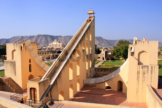 Astronomical Observatory Jantar Mantar in Jaipur, Rajasthan, India.