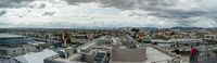 Cloudy skyline panorama of Los Angeles