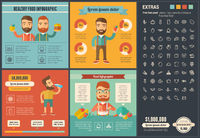 Healthy Food flat design Infographic Template