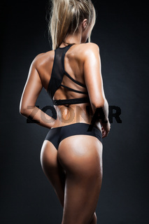 Fitness girl back