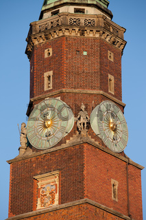Town Hall Clock Tower in Wroclaw