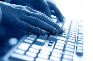 keyboard work hand background