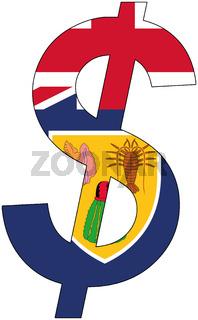 dollar - flag of turks and caicos islands