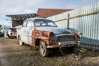 Oldmobile under the sun