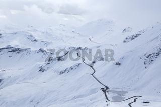 Großglockner, Hochalpenstraße im Winter, Gebirge, Österreich, Europa