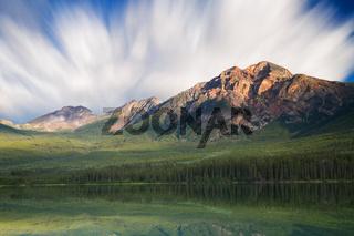 Pyramid lake reflections - Long Exposure version