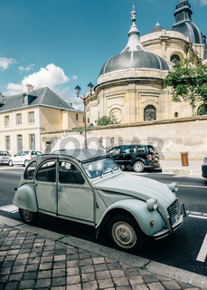 A Citroën 2CV in Versailles, France