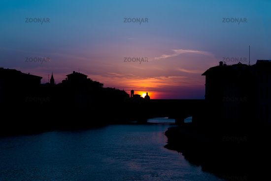Sonnenuntergang Ponte Vecchio Panorama