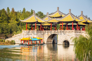 yangzhou five pavilion bridge closeup