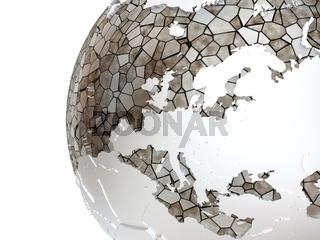 Europe on translucent Earth