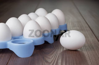 eggs on the brown wooden table