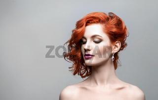 Portrait of beautiful sexy girl
