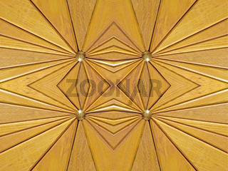 Kaleidoscope wooden segments background.