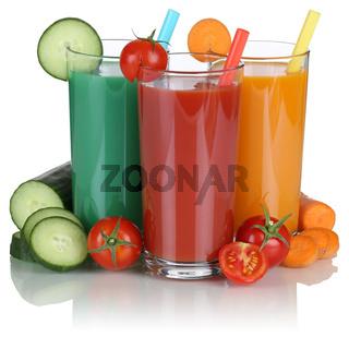 Saft Smoothie aus Gemüse Gemüsesaft Freisteller