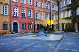 Kanonia Square in the Old Town of Warsaw