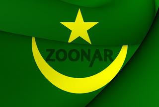 Flag of Mauritania. Close Up.