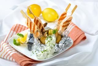 Ofenkartoffel mit Lachs