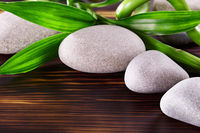 Spa Stones with bamboo