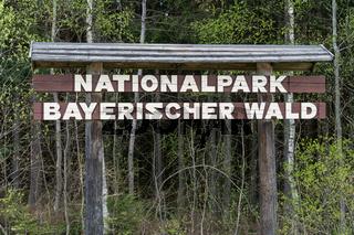 Schild Nationalpark Bayerischer Wald