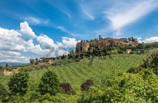 Panoramic view of Orvieto, Umbria, Italy