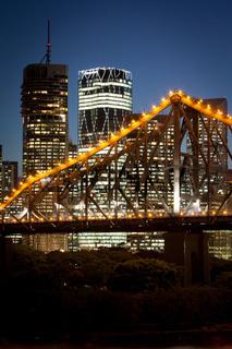 Brisbane Skyline At Dusk