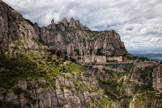 Montserrat Mountains and Monastery in Spain
