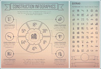 Construction Line Design Infographic Template