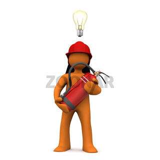 Fireman Bulb Extinguisher