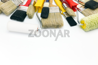 paint brushes and rollers for home renovation