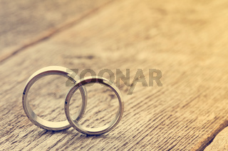 Pastel image with wedding rings