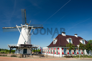 White Dutch windmill