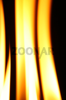 fire flame close up on black background