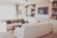 Blurred Modern Living Room with Television applying Retro Instagram Style Filter