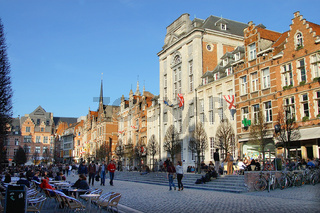 Oude Markt in Leuven, Belgien