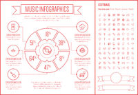 Music Line Design Infographic Template
