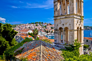 Historic Hvar architecture and waterfront