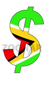 dollar - flag of guyana