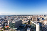 Downtown Los Angeles with blue sky